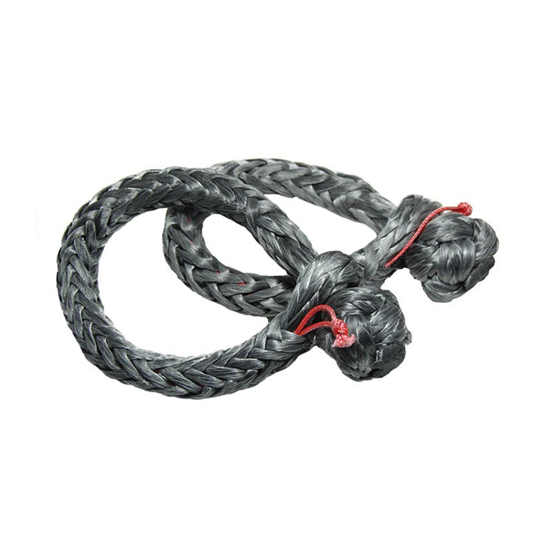 UHMWPE braided soft shackle ,Car tow adjustable soft rope shackle for sale