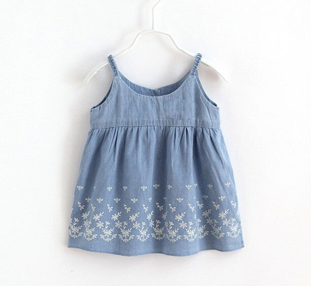 Demin Printing Kids Girls' Dress for sale