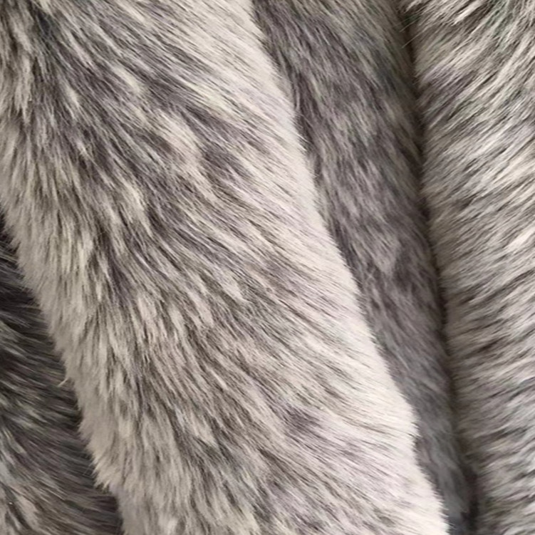 Grey Fade Long Pile Faux Fur For Winter Cloak for sale