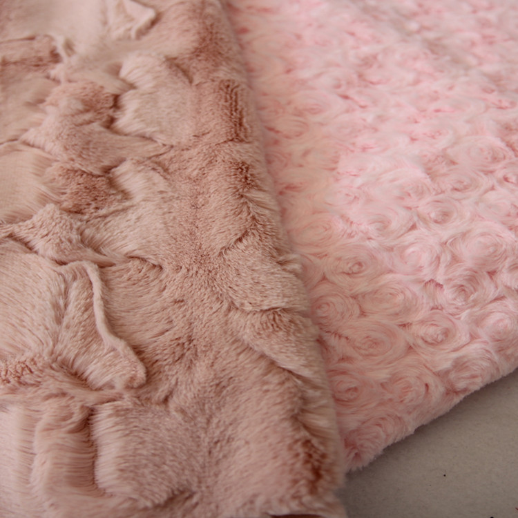 Romantic and Attractive Rose Velvet For High-end Women Garment for sale