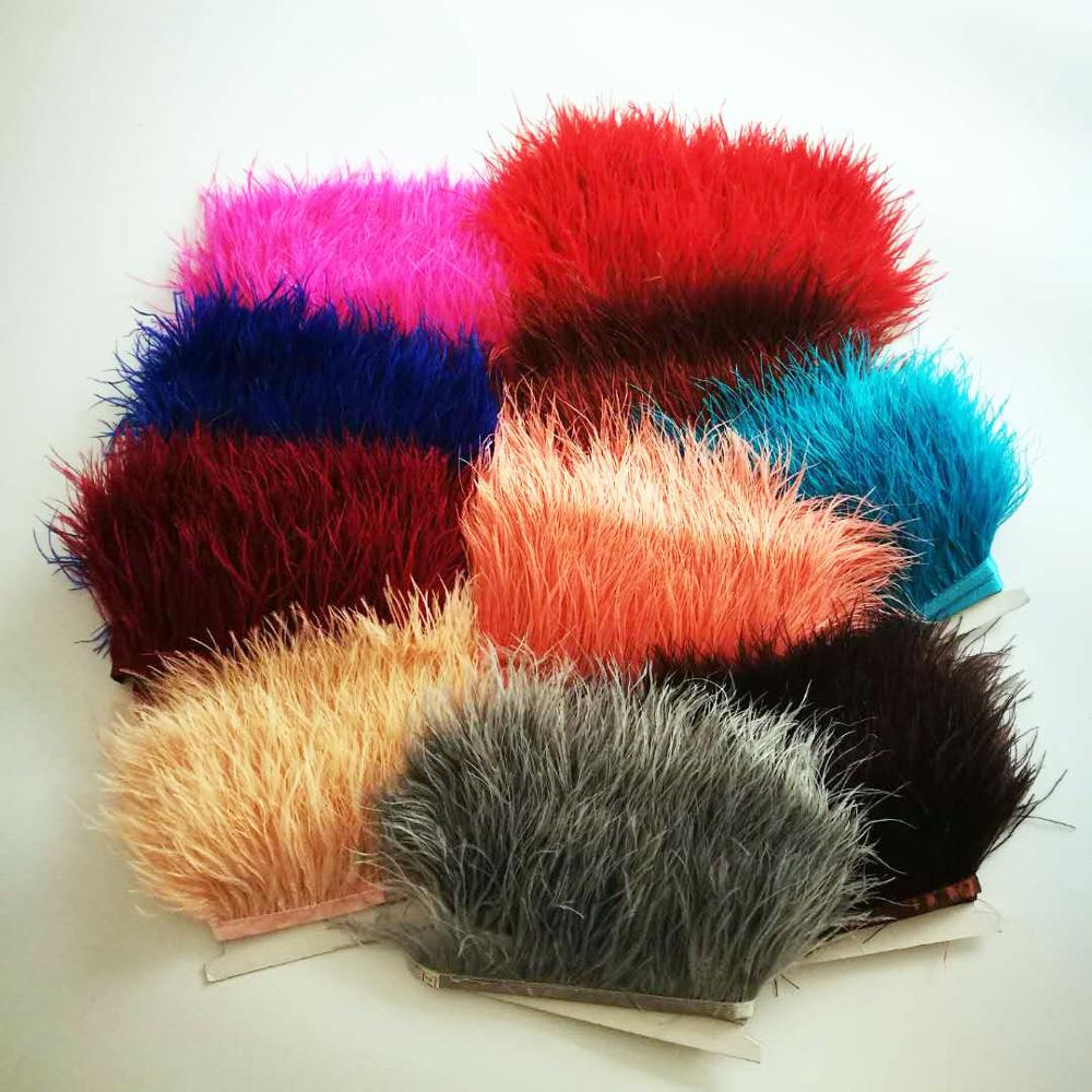 Artificial ostrich feather trimming 7-9cm feather fringe for costumes dress or skirt for sale