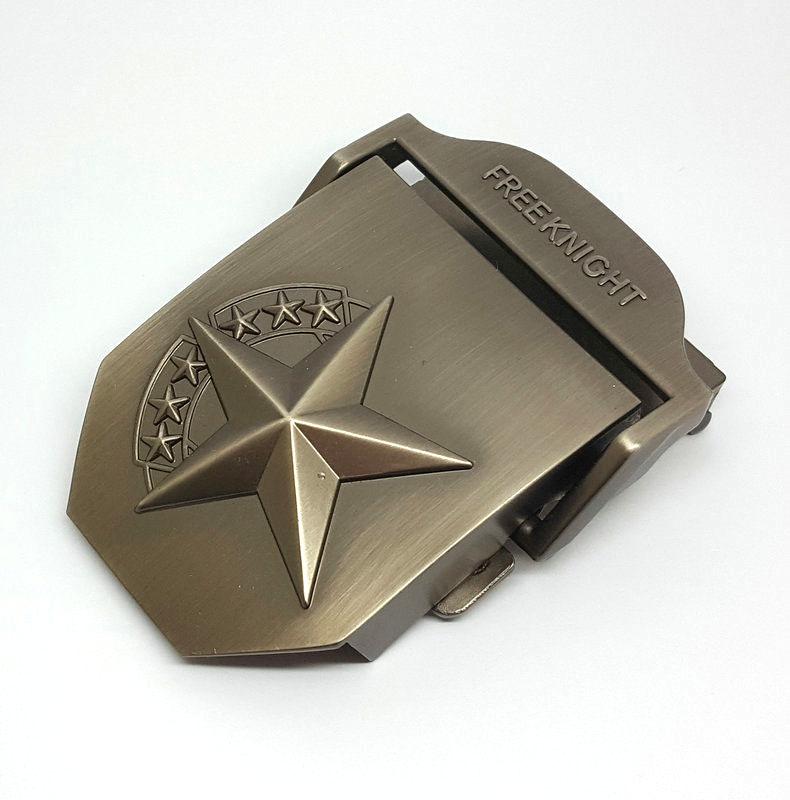 Good quality die casting sport star design medallion canvas belt buckle for sale
