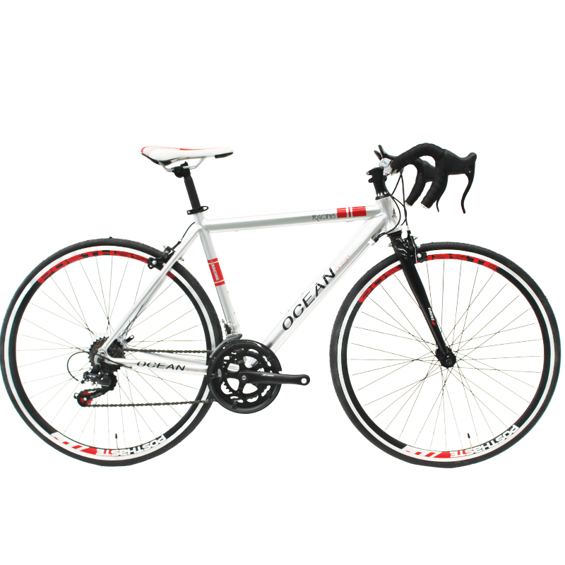 Aluminum alloy frame and Steel rigid fork 14 speed Double wall alloy rim racing bicycle road bike for sale
