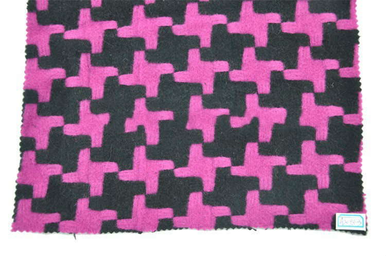designer printed wool felt fabric faux fur for sale