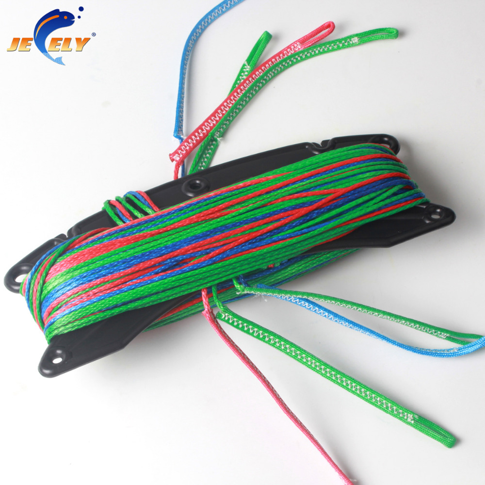100% uhmwpe fiber 4 line(1red in 400kg,1blue in 400kg,2green in 400kg) x 20m kitesurfing line set end looped for sale