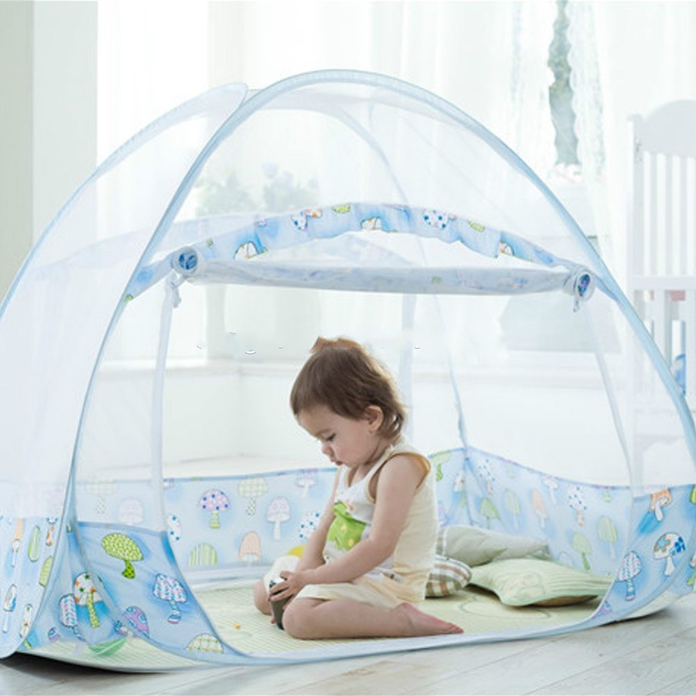 Foldable Baby Bed Mosquito Net Tent Kids Nursery Crib Canopy Netting NEW for sale