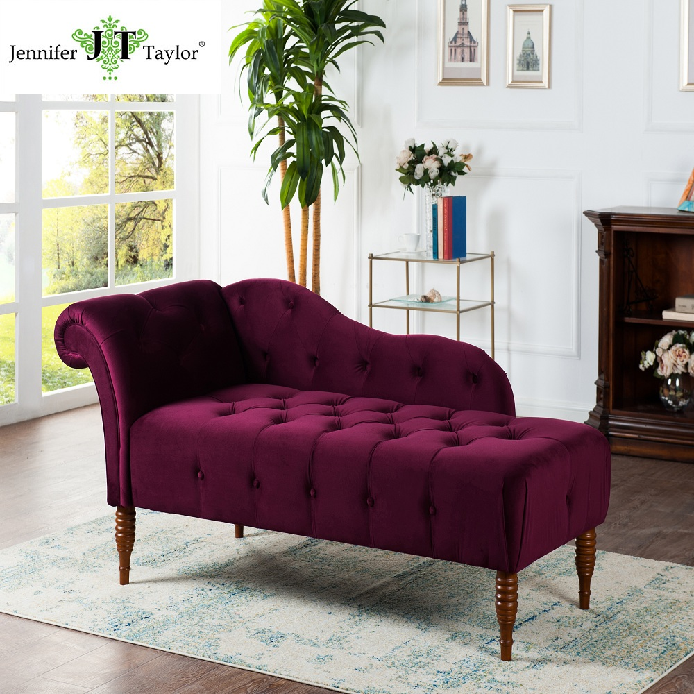 American morden high end furniture button-tufted velvet chaise lounge from Jennifer Taylor Sale