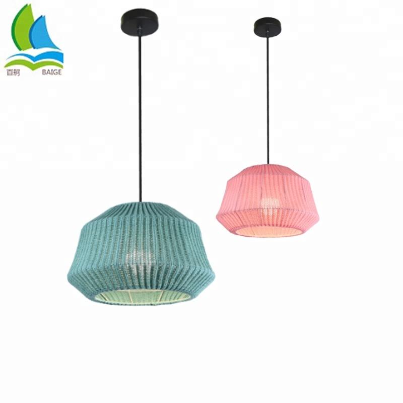 Modern Custom Wool Knitting Ceiling Pendant Lamp For European North American Market for sale
