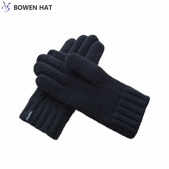 100% wool screen touch mitten gloves thick fleece lined warm & comfortable glove for sale