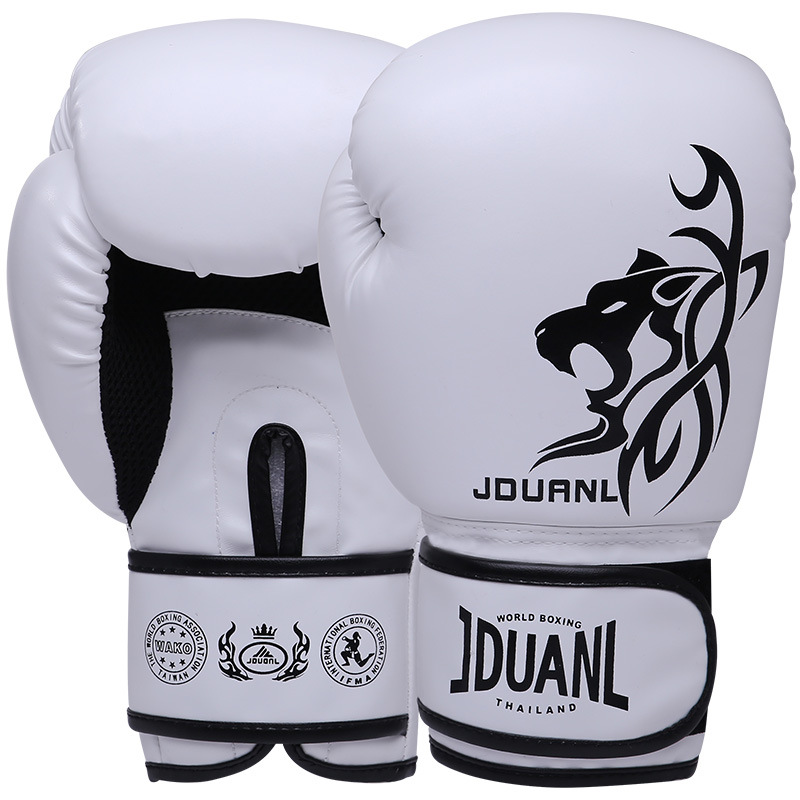 Cheap personalised custom PU Leather glory Fighting muay thai kick printing Boxing Gloves for sale