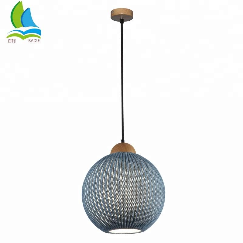 Warm Feeling Custom Wool Braided Modern Ceiling Lighting Lamp For Bars , Restaurant , Hotel Etc FOR SALE
