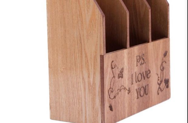 New fashion practical storage MDF wooden book display box sale
