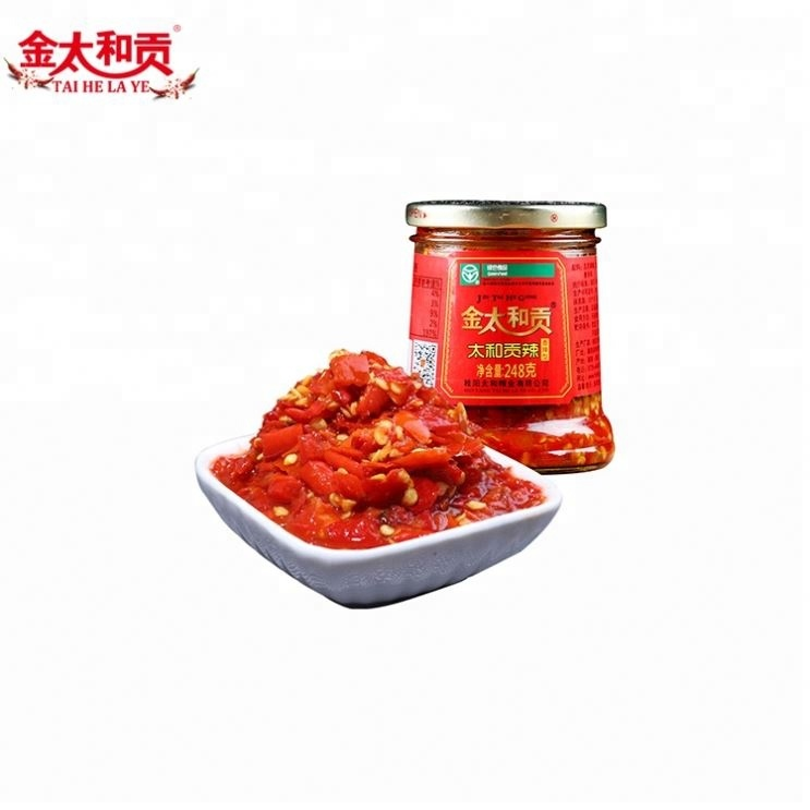 Taihegongye Hot Spciy Seasoning 248g per Bottle, Condiment of Sichuan Flavors, Chili Sauce for sale