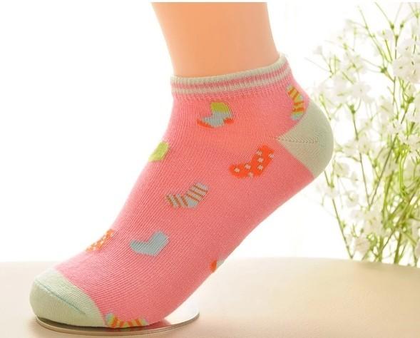 Classical jacquard ankle socks cotton women socks cute for sale