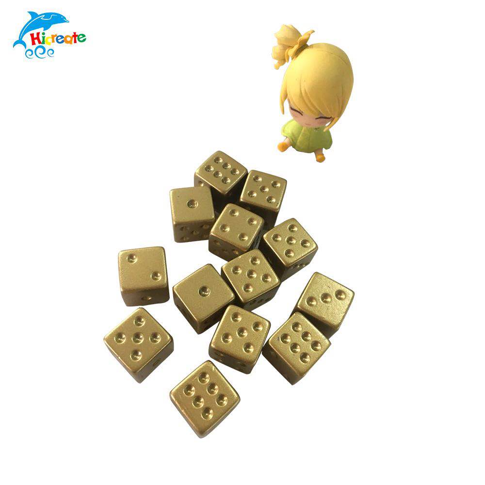 custom high quality metal game dice metal gaming dice for sale