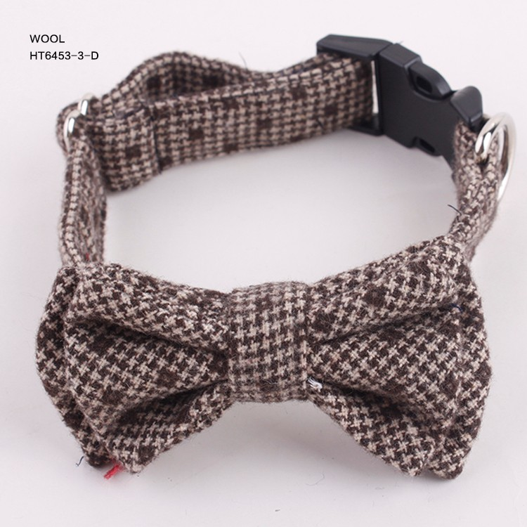 Handmade Swallow Gird Casual Wool Pet Dog Bow Ties Supplier for sale