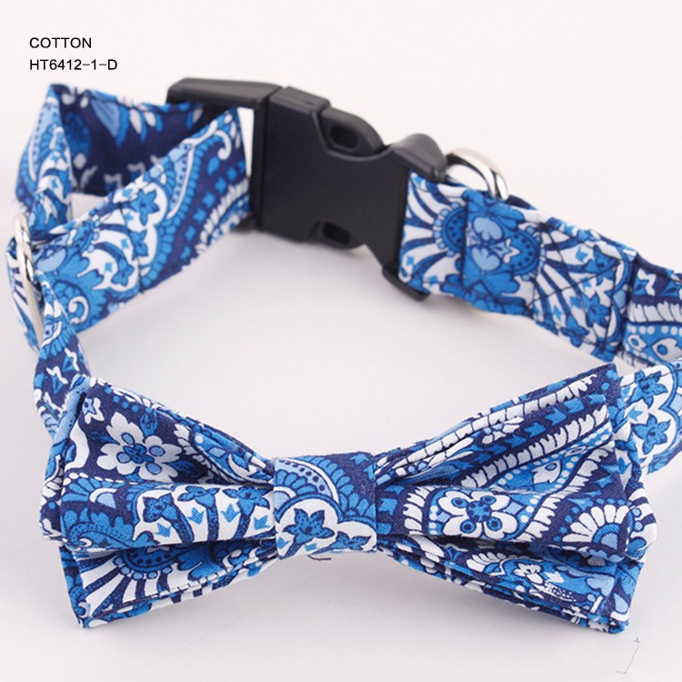 Wholesale Italy Paisley Design Cotton Pet Dog Bow Ties Supplier for sale