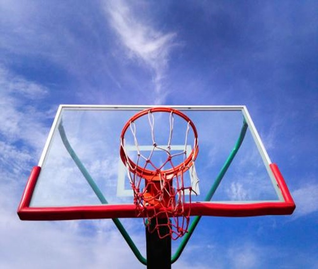 Standard Tempered glass/SMC basketball backboard with rim/hoop for sale