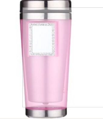 Hot sale double wall insulated mug with mirror with sliding lid for promotion sale
