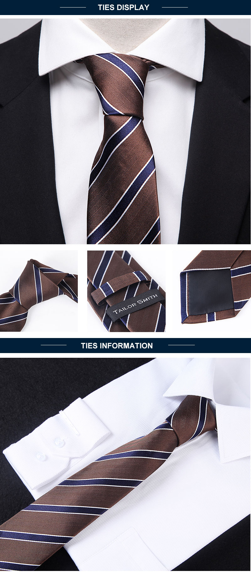 Italian luxury design necktie design men silk neck tie China manufacturer with cheap price for sale