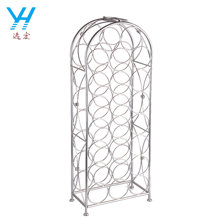 YH003 Factory Supply Durable Metal Bottle Holder Wine Rack