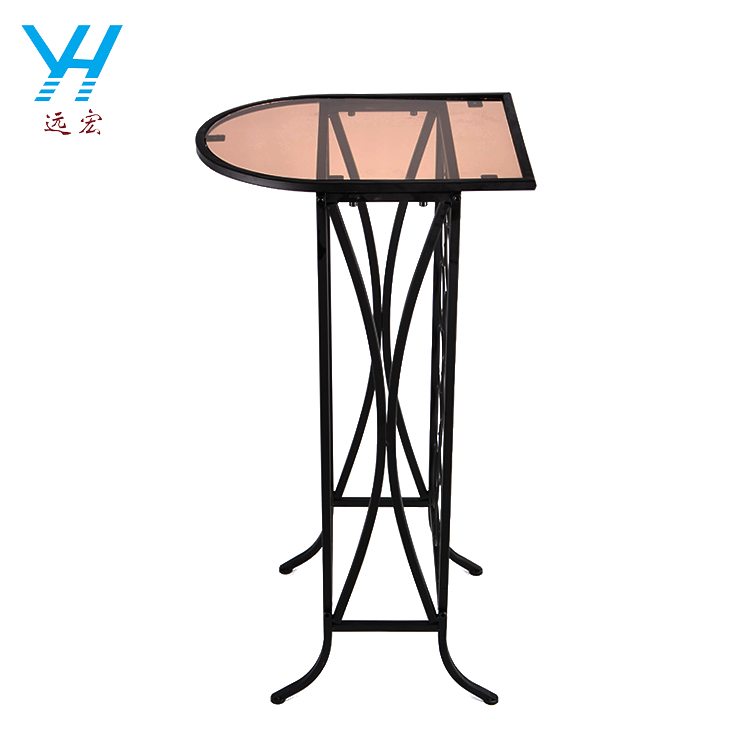 YH004 Low price glass table top metal wine display rack