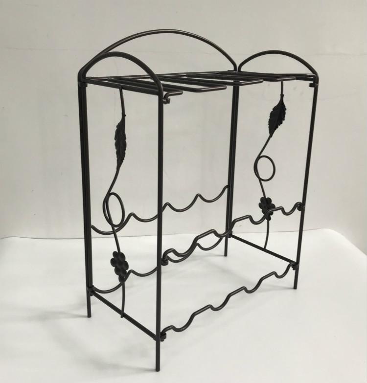 YH070 Modern metal wine display rack