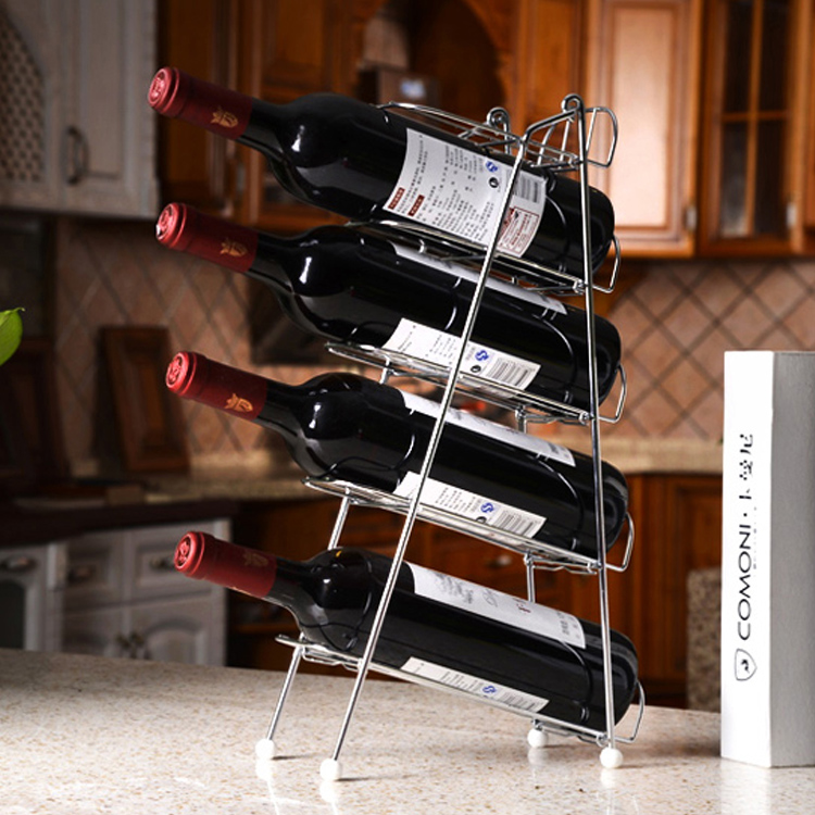 SAJV-09-23 Multi-layer creative wine rack removable kitchen shelves metal storage rack