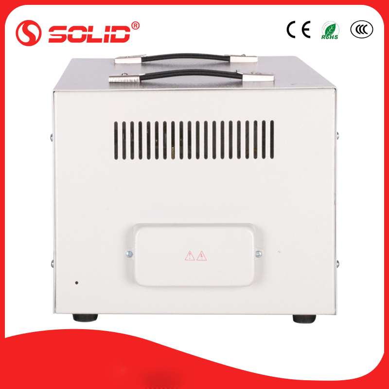 Solid electric svr 10 kva compensation automatic voltage stabilizer with 2 transformers sale