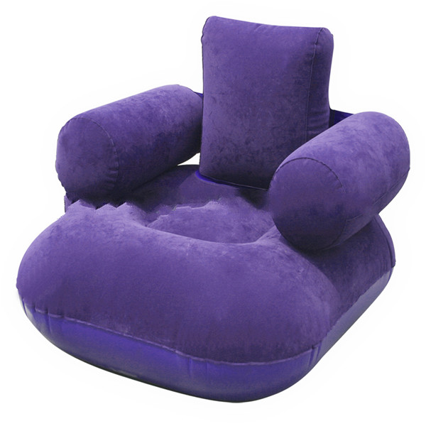 Furniture flocking PVC inflatable air sofa and inflatable sofa for children for sale