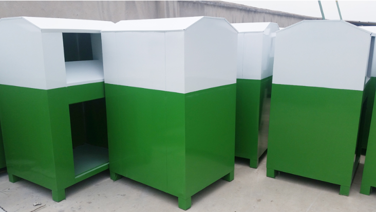 Large Volume Garbage Bin Steel with Outdoor Lockable for sale