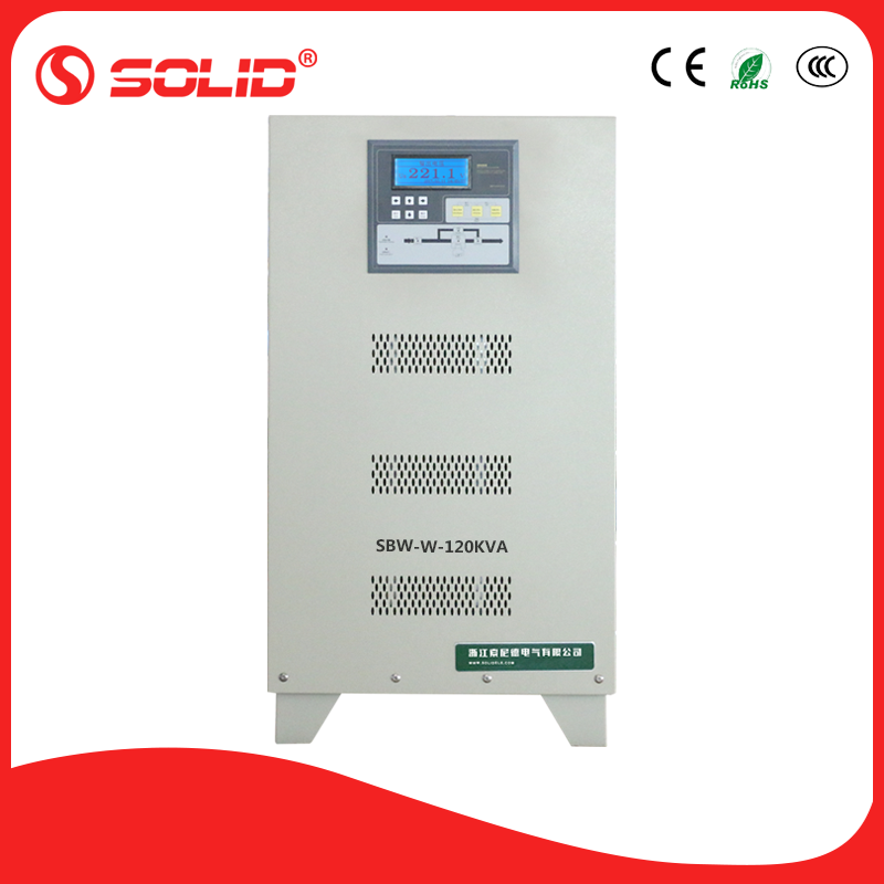 SOLID electric 120KVA static ac auotmatic voltage stabilizer sale