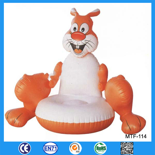 Fashion PVC inflatable children animal sofa for sale