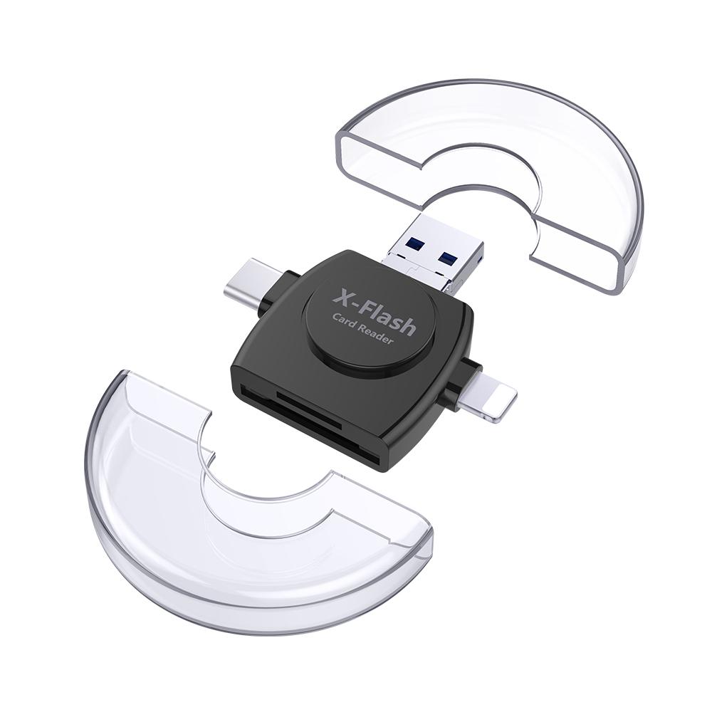 2018 OEM usb3.0 sd smart card reader 4 in 1 card reader for mobile phone sale
