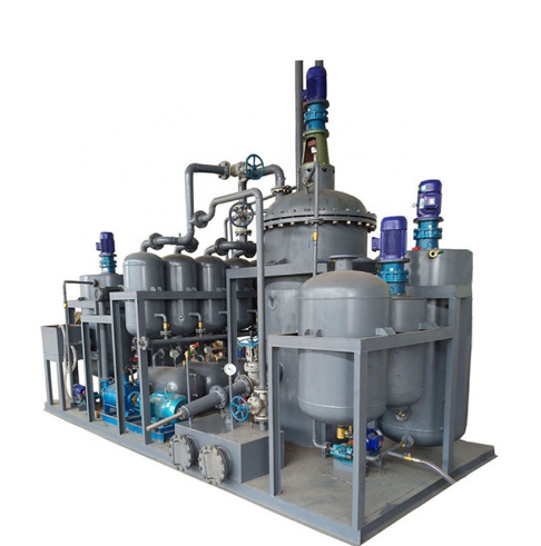 High Safety Black Used Engine Oil Processing to Base Oil Distillation Equipment