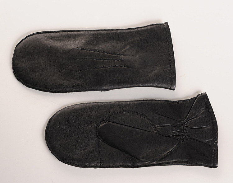 basic style lined thinsulate leather mitten for lady for sale