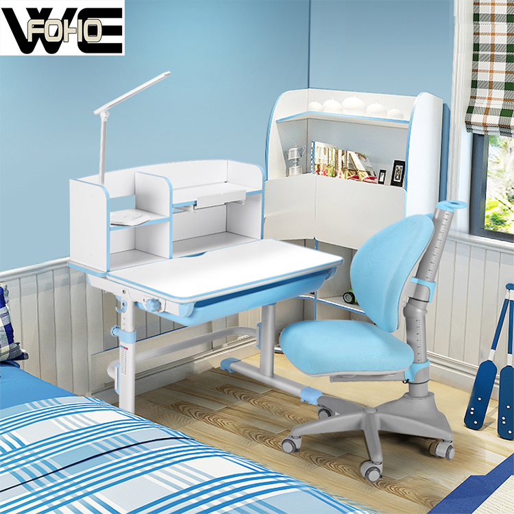 Folding adjustable children study table and chair for sale