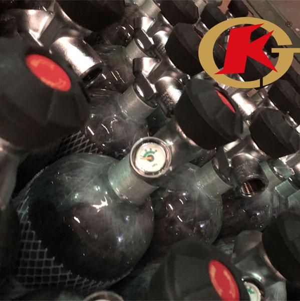KJ factory direct sell carbon fiber cylinder tank for PCP 300bar