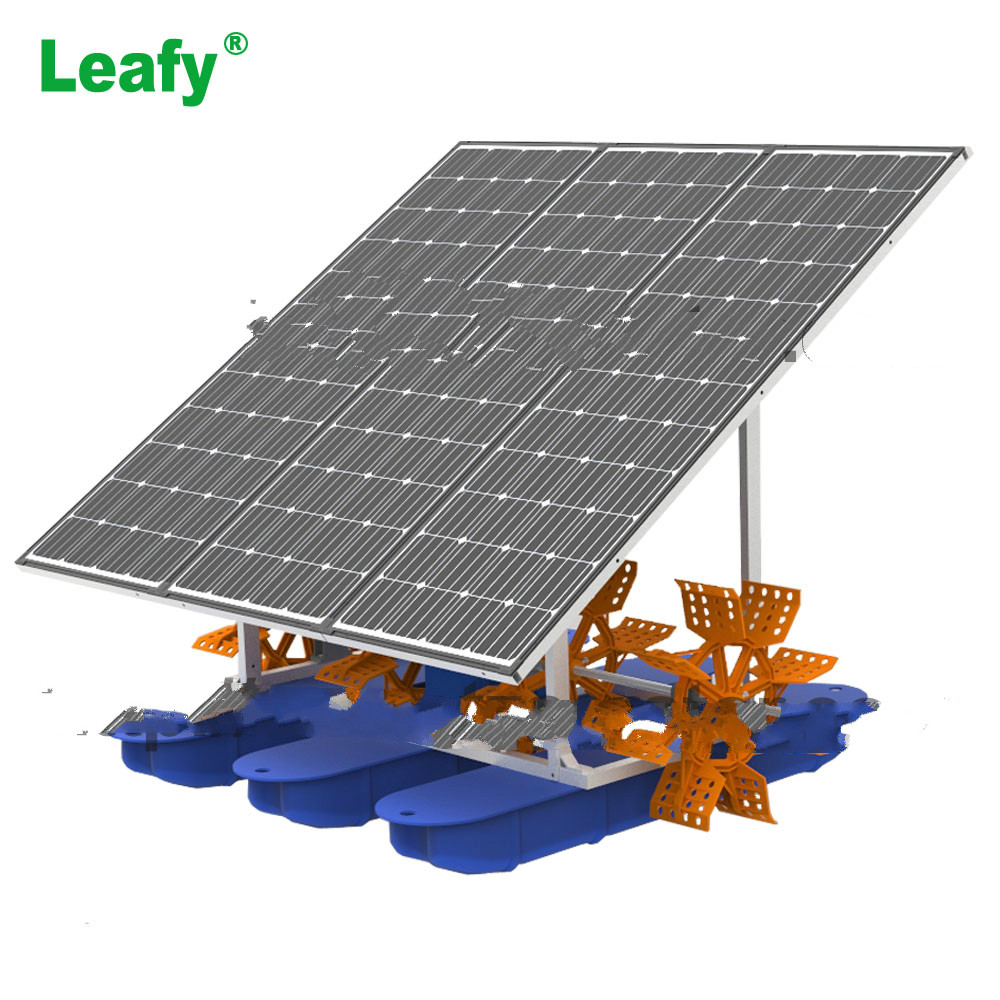 High Efficiency Fish Shrimp Farming Solar Panel Paddle Wheel Aerator for sale