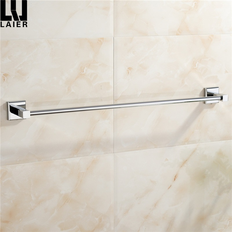 Zinc Alloy Hanger Single Towel Bar Holder, Chrome Finish square base Wall Mounted towel rail
