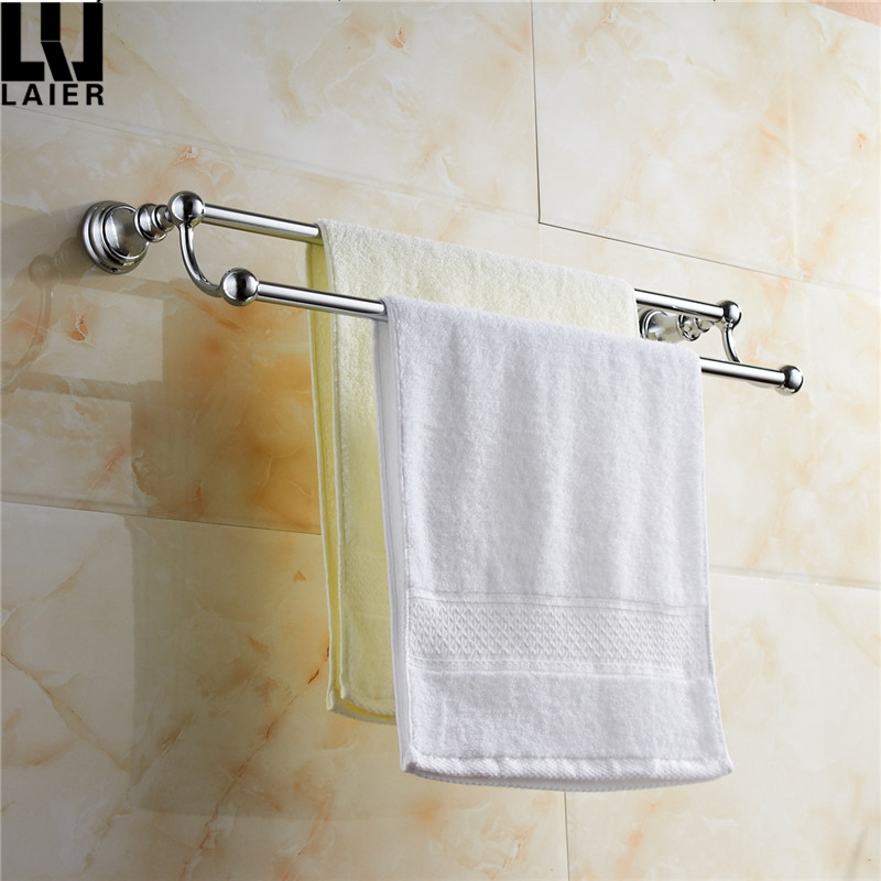 wall mounted matel double towel bar Bathroom Accessories towel rods