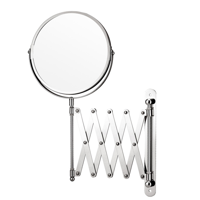 Modern Design Extension Adjustable Arm Customized Magnification bath mirror sale