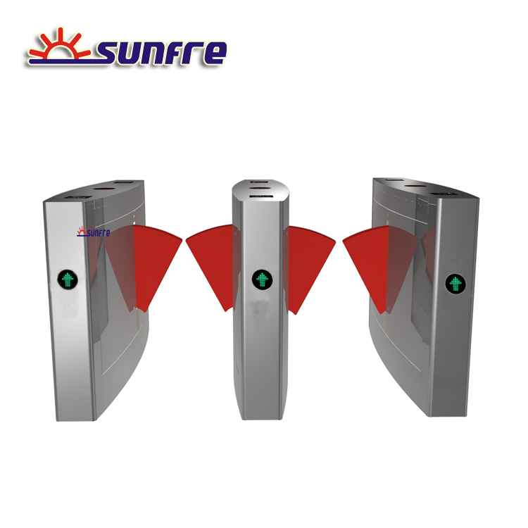 2 Lanes SS304 Security Automatic Flap turnstile for sale