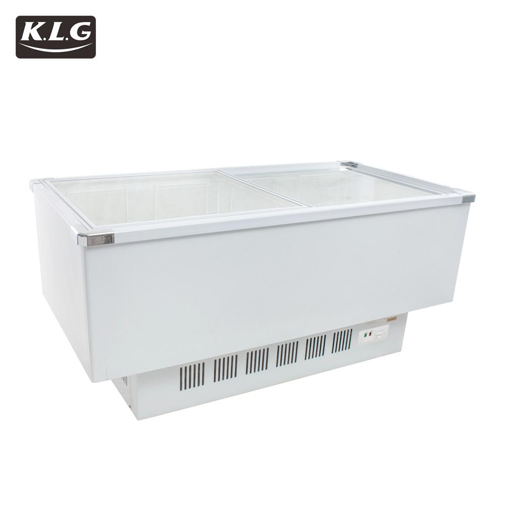 SD-1600 glass door refrigerator freezer showcase seafood freezer sale