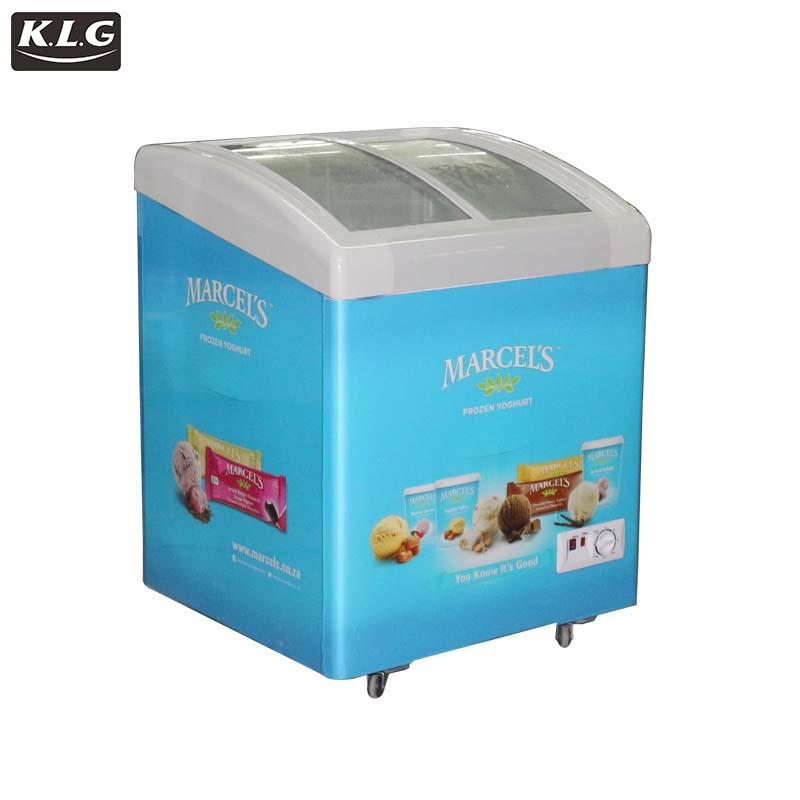 top open refrigerator,open showcase Commercial resistance glass door freezer sale