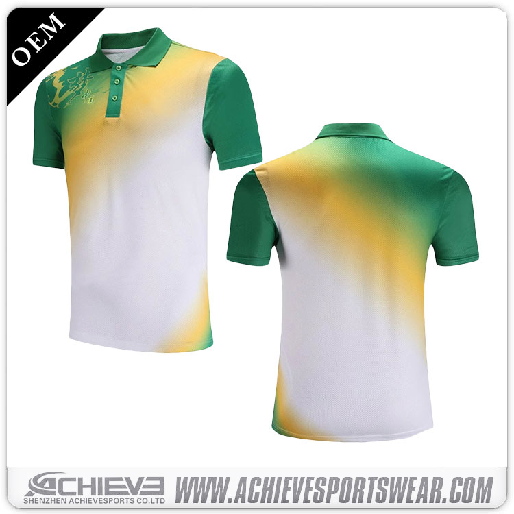 Vintage custom gym Polo Shirts sublimated polyester cricket suits shirts athletic print bowling polo jerseys uniforms for sale