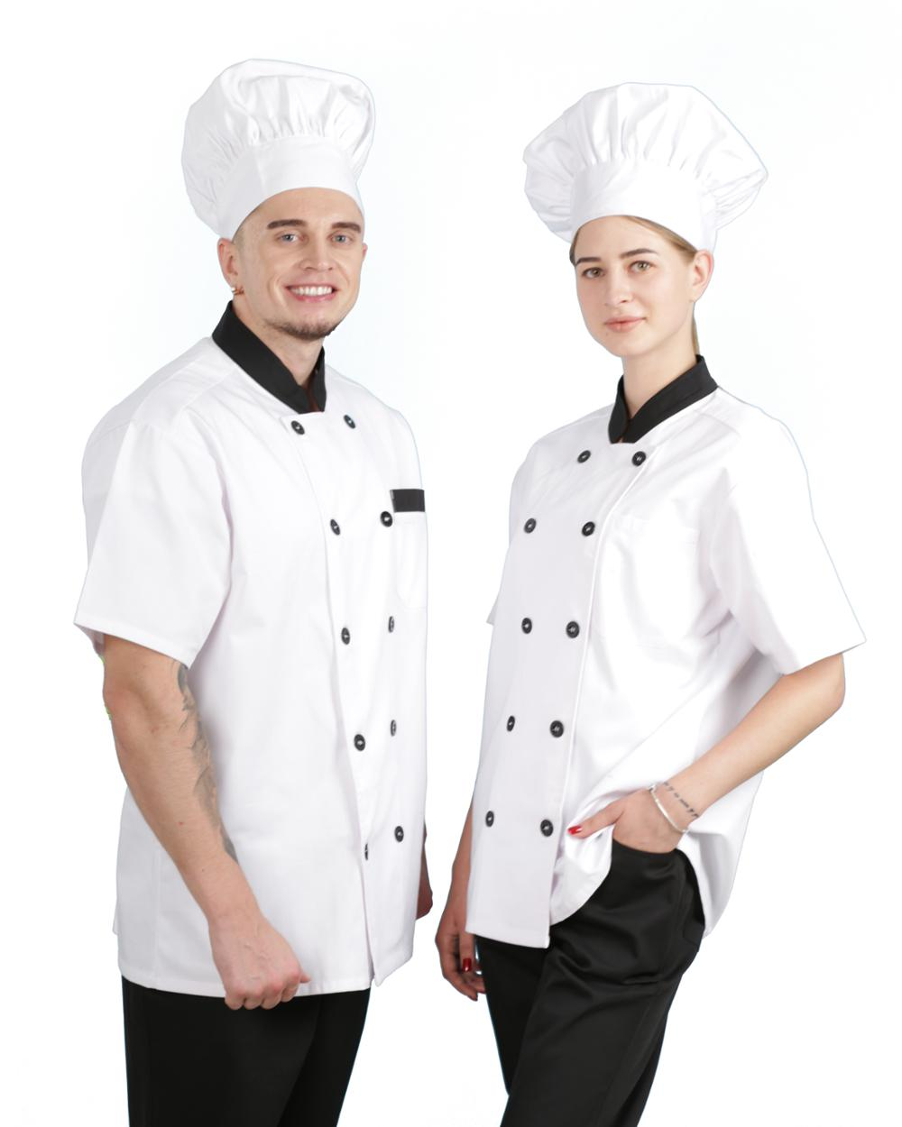 Fashion summer professional restaurant chef uniform,short sleeve chef uniform on Sale