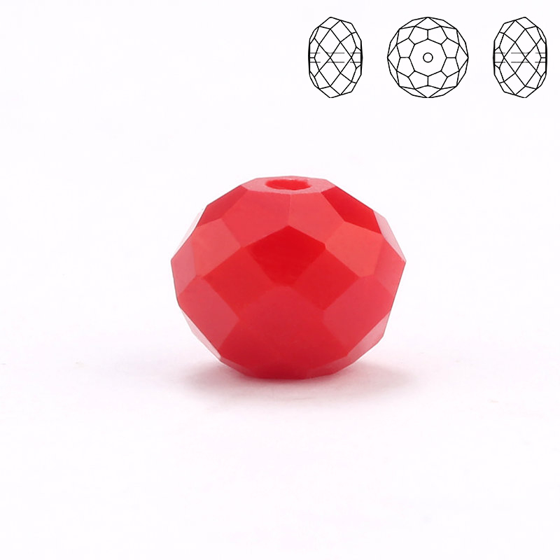 High Quality Beads 4mm-8mm Color Glass Normal Size Round Rondelle Bead In Bulk For Jewelry DIY Making sale