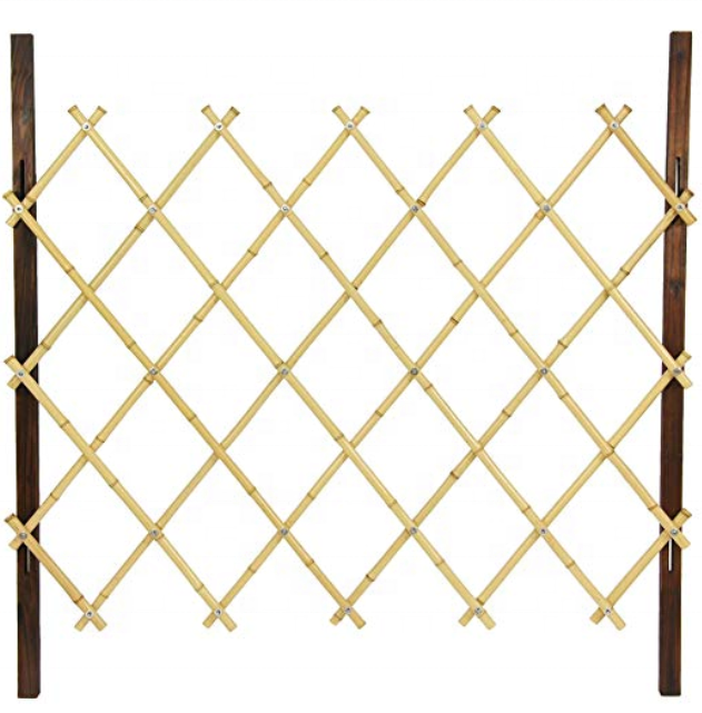 FD-Oriental Furniture 3 ft. Tall Diamond Bamboo Fence Covering- Natural sale