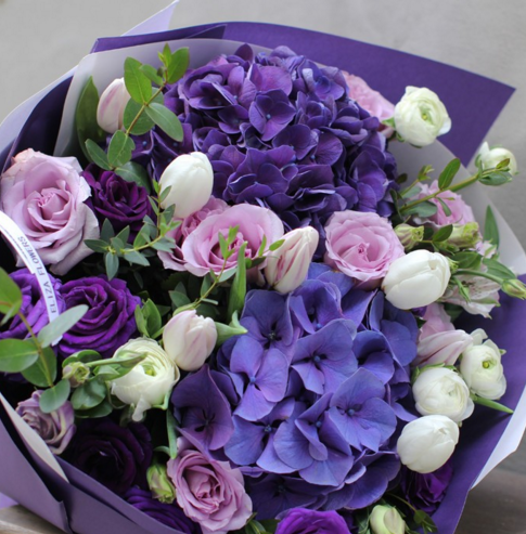 best quality fresh cut purple hydrangea flower sale